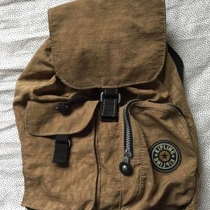 Kipling army green medium backpack